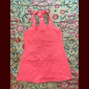 Size 12 cute lululemon hot pinkish Orange tank top